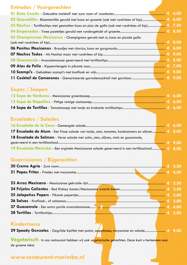 Menukaart 2016 Marimba klein-2